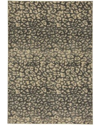 "17 Stories Rhea Coal/Beige Area Rug STSS5205 Rug Size: 7'10"" x 10'10"""