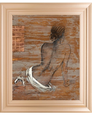 """Classy Art 22 in. x 26 in. """"Vivenne"""" by Saro"""" Framed Printed Wall Art"""