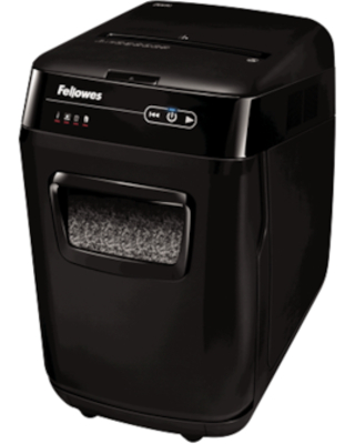 Fellowes AutoMax 200M AutoFeed Shredder 200 sheets Micro Cut particles Black | Quill
