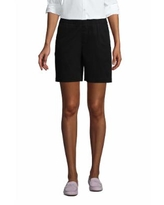 """Women's Pull On 7"""" Chino Shorts - Lands' End - Black - 6"""