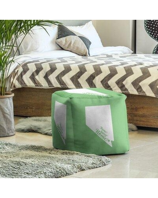 East Urban Home Home Sweet Las Vegas Cube Ottoman EBJC3096 Upholstery Color: Green