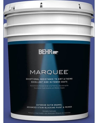 BEHR MARQUEE 5 gal. #P540-7 Canyon Iris Satin Enamel Exterior Paint and Primer in One