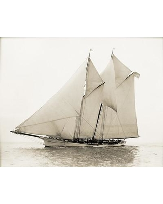 Breakwater Bay Styron 'Majestic Ship II' Photographic Print on Wrapped Canvas BKWT6021