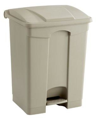 Safco Products Receptacle 23 Gallon Step On Trash Can 992 Color: Tan Gallon Capacity: 17