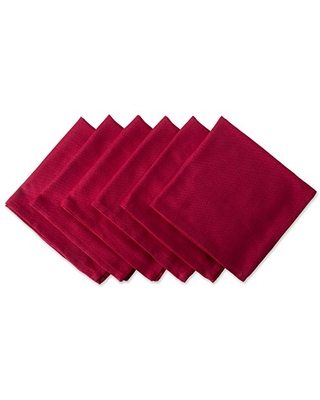 DII Variegated Tabletop Collection, Napkin Set, Tango Red 6 Count