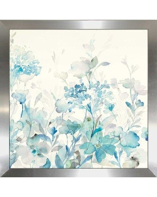 """Winston Porter 'Translucent Garden Blue I' Watercolor Painting Print BF110441 Size: 27.5"""" H x 27.5"""" W x 0.75"""" D"""