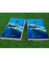 "Custom Cornhole Boards Shark Cornhole Game CCB380 Bag Fill: All Weather Plastic Resin, Size: 48"" H x 12"" W"