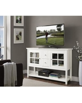"""""""52"""" Wood Console Table TV Stand - White - Walker Edison W52C4CTWH"""""""