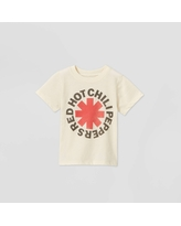 Toddler Boys' Red Hot Chili Peppers Short Sleeve Graphic T-Shirt - Beige 5T