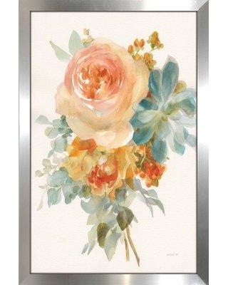 """Charlton Home 'Autumn Garden Bouquet II' Framed Acrylic Painting Print BF110495 Size: 51.5"""" H x 35.5"""" W x 0.75"""" D"""