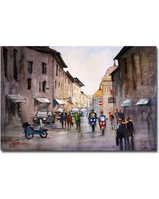 "Trademark Art 'When in Rome' by Ryan Radke Framed Painting Print on Wrapped Canvas RAR0079-C Size: 30"" H x 47"" W x 2"" D"