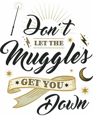 RoomMates Harry Potter Muggles Quote Peel and Sticks Wall Decals