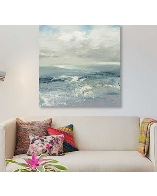 """East Urban Home 'Waves' Print on Canvas EBHU6023 Size: 18"""" H x 18"""" W x 0.75"""" D"""