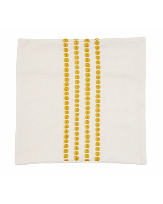 """20""""x20"""" Oversize Wanda Yarn Stitched Woven Cotton Square Throw Pillow Cover Yellow - Decor Therapy"""