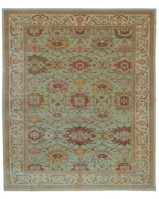 """One-of-a-Kind Ereline Hand-Knotted 1970s 8'4"""" x 9'11"""" Area Rug in Beige"""