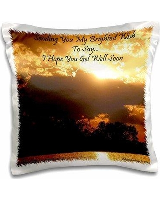 East Urban Home Sunset Get Well Soon Pillow Cover W001231023