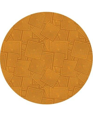 East Urban Home Wool Yellow Area Rug X113418449 Rug Size: Round 3'