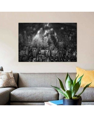 """East Urban Home 'New York City' Graphic Art Print on Canvas EBHU7020 Size: 18"""" H x 26"""" W x 1.5"""" D"""
