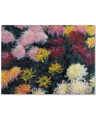 "Charlton Home 'Chrysanthemum' by Claude Monet Print on Wrapped Canvas CHRH7892 Size: 18"" H x 24"" W"