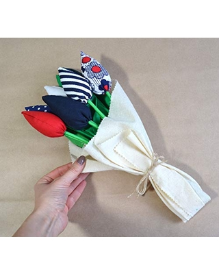 Easter decoration/Mother's day gift/Spring decoration/Flower bouquet/Set of 7 flowers/Fabric flowers/Fabric bouquet.