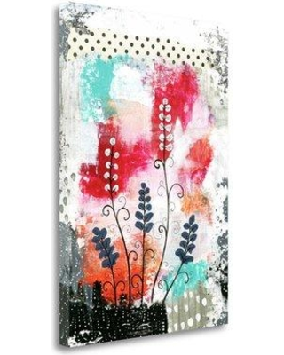"""Tangletown Fine Art 'Colorful Flowers' Graphic Art Print on Wrapped Canvas SBSO1044 Size: 24"""" H x 17"""" W"""