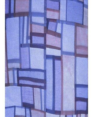 East Urban Home Wool Blue Area Rug X113669004 Rug Size: Rectangle 2' x 4'