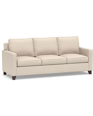 Cameron Square Arm Upholstered Side Sleeper Sofa, Polyester Wrapped Cushions, Performance Everydaylinen(TM) by Crypton(R) Home Oatmeal