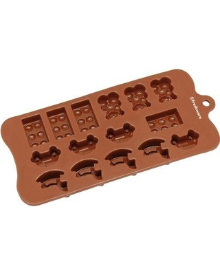 Freshware 15 Cavity Toy Car Block and Bear Silicone Mold Pan CB-614BR
