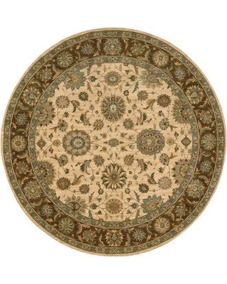 """Darby Home Co Crownover Beige Area Rug DRBH1101 Rug Size: Round 5'10"""""""