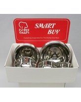 Chef Craft Non-skid 3 Piece Stainless Steel Mixing Bowl Set 42040