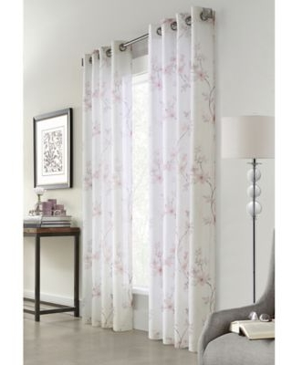 Commonwealth Home Fashions Blossom 84-Inch Grommet Window Curtain Panel in Blush