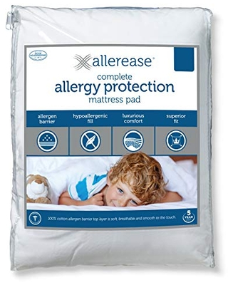 Aller-Ease AllerEase Complete Allergy Protection Mattress Pad, Full, White