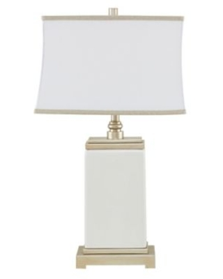 Hampton Hill Colette Table Lamp In Ivory With Cotton Shade