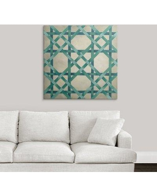 "Great Big Canvas 'Woven Symmetry VI' Chariklia Zarris Graphic Art Print 2330821_1 Size: 35"" H x 35"" W x 1.5"" D Format: Canvas"