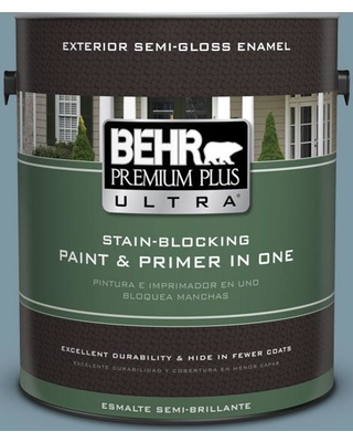 BEHR Premium Plus Ultra 1 gal. #530F-5 Waterscape Semi-Gloss Enamel Exterior Paint and Primer in One