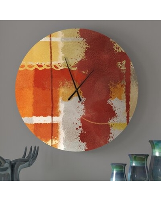 Find The Best Deals On Sensitive Striking Abstract Wall Clock Ebern Designs Size Small