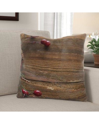 Spectacular Deals On The Holiday Aisle Wheaton Background Indoor Outdoor Canvas Throw Pillow Polyester Polyfill In Brown Size 18x18 Wayfair