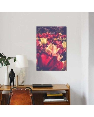 "East Urban Home 'Tulip Love' Graphic Art Print on Canvas EBHU7091 Size: 12"" H x 8"" W x 0.75"" D"