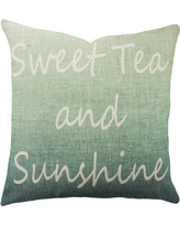 TheWatsonShop Sweet Tea and Sunshine Cotton Throw Pillow DFVSWEETTEASUNOMBBLUE Color: Blue Ombre