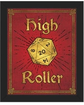 """Click Wall Art High Roller Framed Painting Print on Canvas in Ruby Gold GRM0000127FRM Format: Black Framed, Size: 16.5"""" H x 13.5"""" W"""