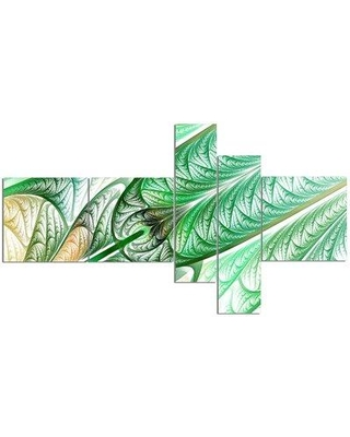 East Urban Home 'Green on White Fractal Stained Glass' Graphic Art Print Multi-Piece Image on Canvas EABO2537