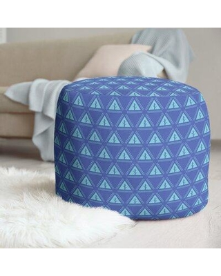 East Urban Home Two Color Minimalist Trees Pouf W001706233 Upholstery Color: Blue/Teal