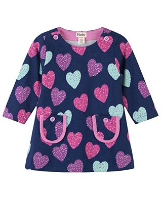 Hatley Baby Girls Mod Dress, Sprinkle Hearts, 12-18 Months