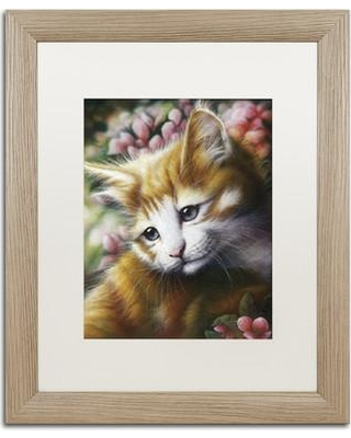 "Trademark Art 'Buttercup' Framed Graphic Art Print on Canvas ALI1885-T1114MF / ALI1885-T1620MF Size: 20"" H x 16"" W x 0.5"" D"