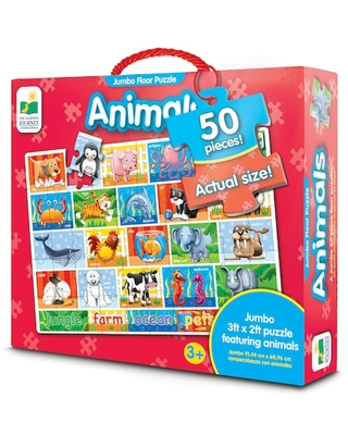 Jumbo Floor Puzzle Animals 50 Piece Puzzle By The Learning Journey | Michaels®