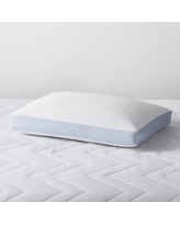 Cooling Memory Foam Pillow (Standard/Queen) - Made By Design, Blue White