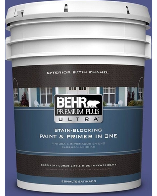 BEHR ULTRA 5 gal. #620B-7 Wild Elderberry Satin Enamel Exterior Paint and Primer in One