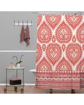 Bungalow Rose Jade Decorative Shower Curtain BNGL3609 Color: Red