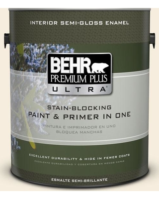 BEHR ULTRA 1 gal. #PPU5-10 Heavy Cream Semi-Gloss Enamel Interior Paint and Primer in One