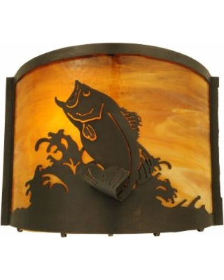Meyda Lighting Leaping Bass 11 Inch Wall Sconce - 139810